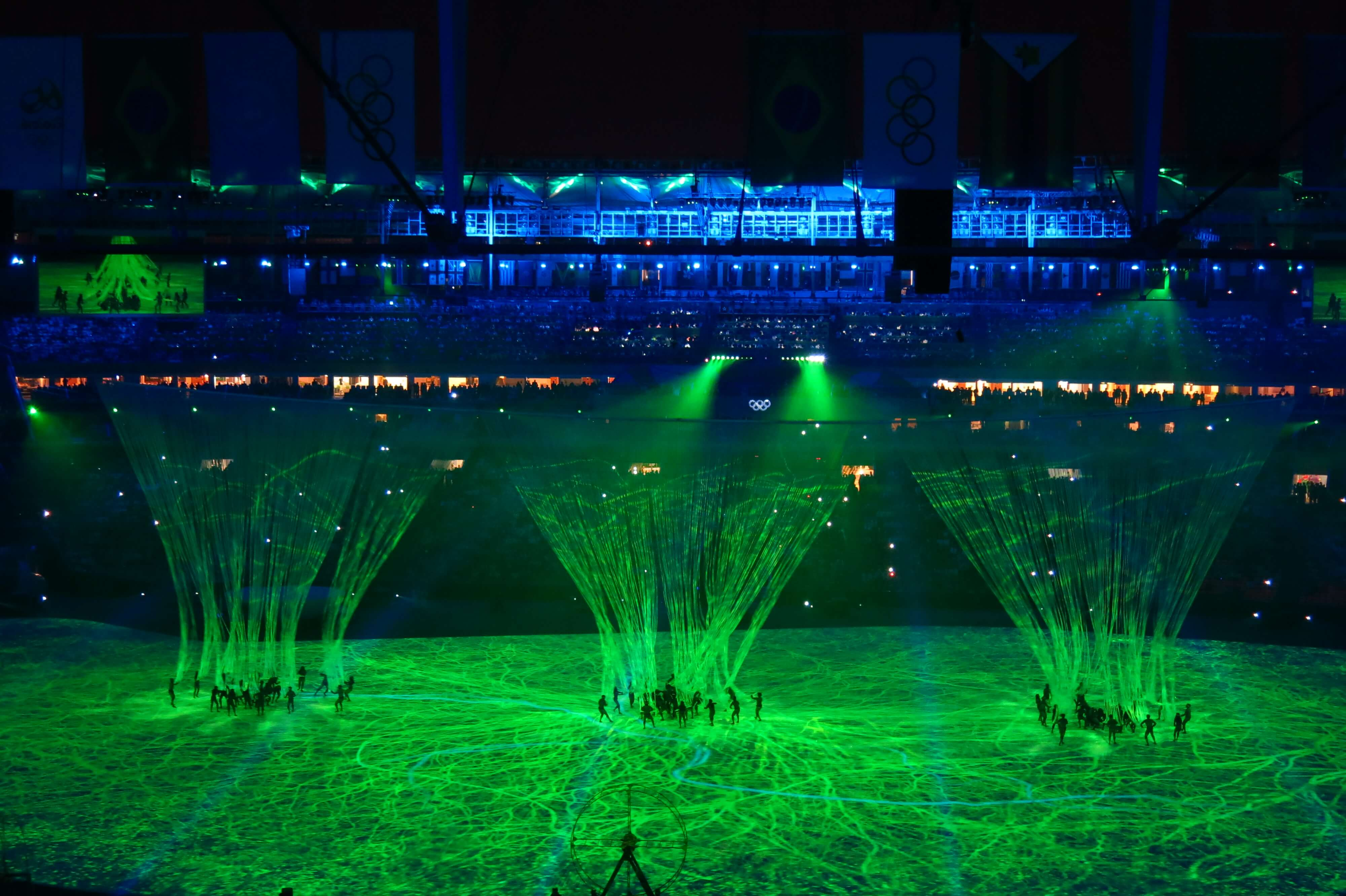 Brazil's story during Opening Ceremony in Rio De Janeiro