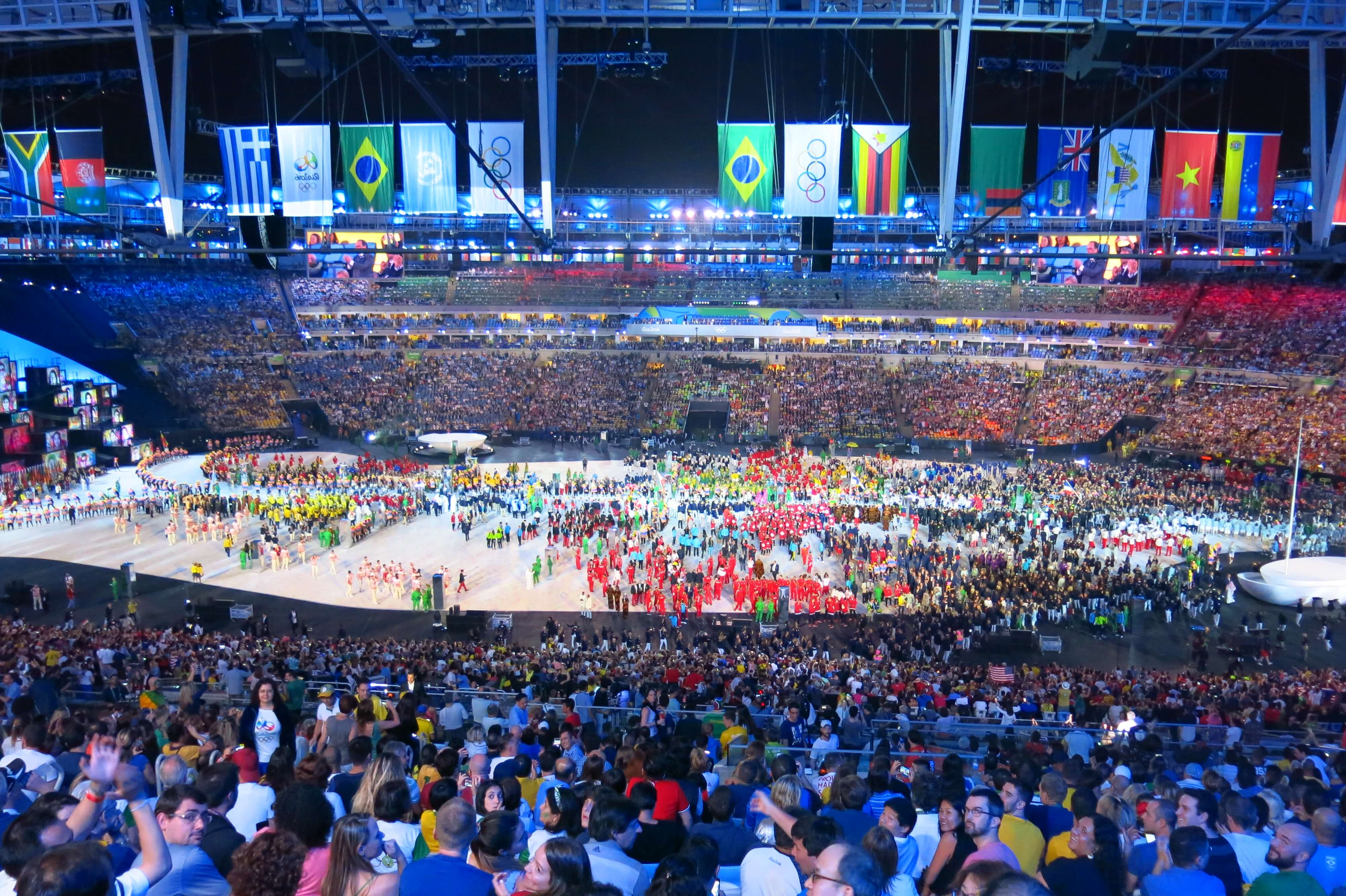 Parade of nations during Opening Ceremony in Rio De Janeiro