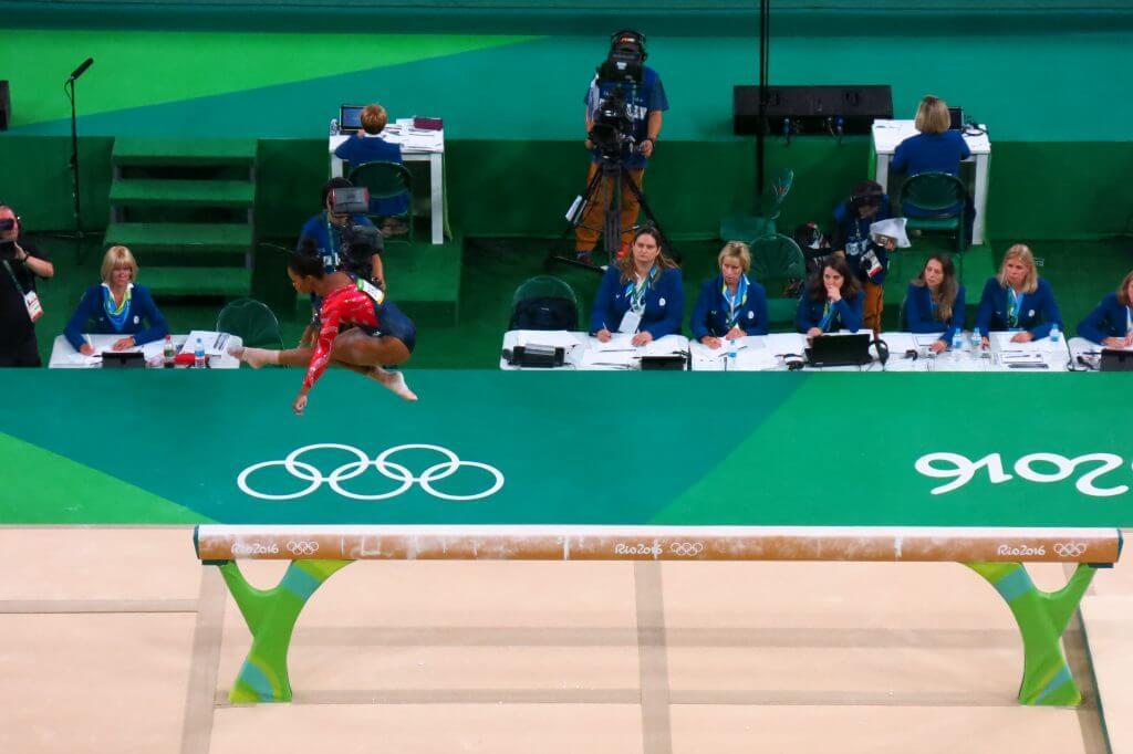 US Gymnast Gabrielle Douglas at 2016 Rio Olympics
