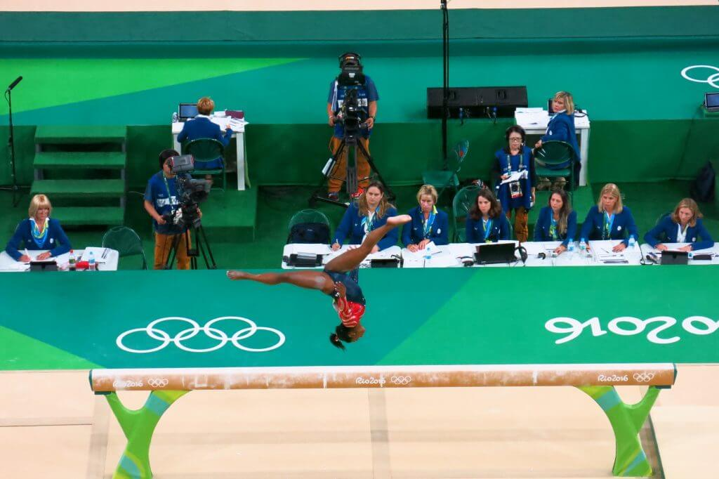 US Gymnast Simone Biles at 2016 Rio Olympics