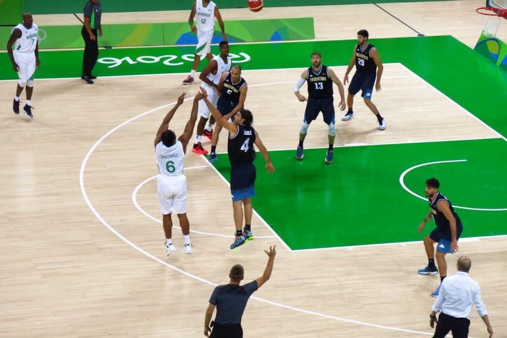 Nigeria versus Argentina basketball game, Ginobili & Scola, 2016 Rio Olympics