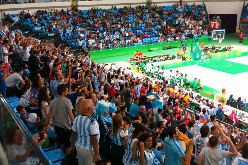 Nigeria versus Argentina basketball game, 2016 Rio Olympics