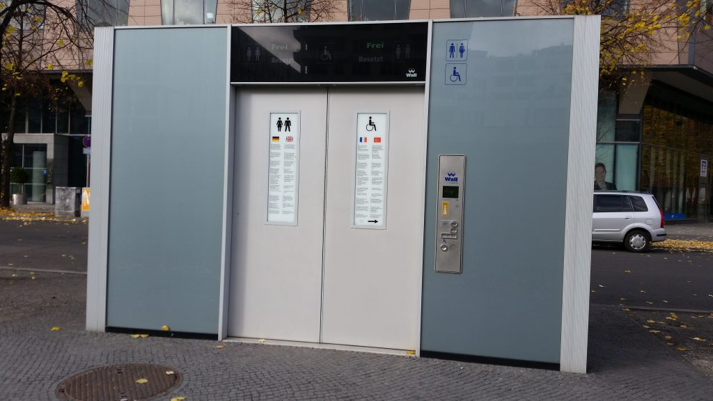 Portable toilet in Berlin, Germany