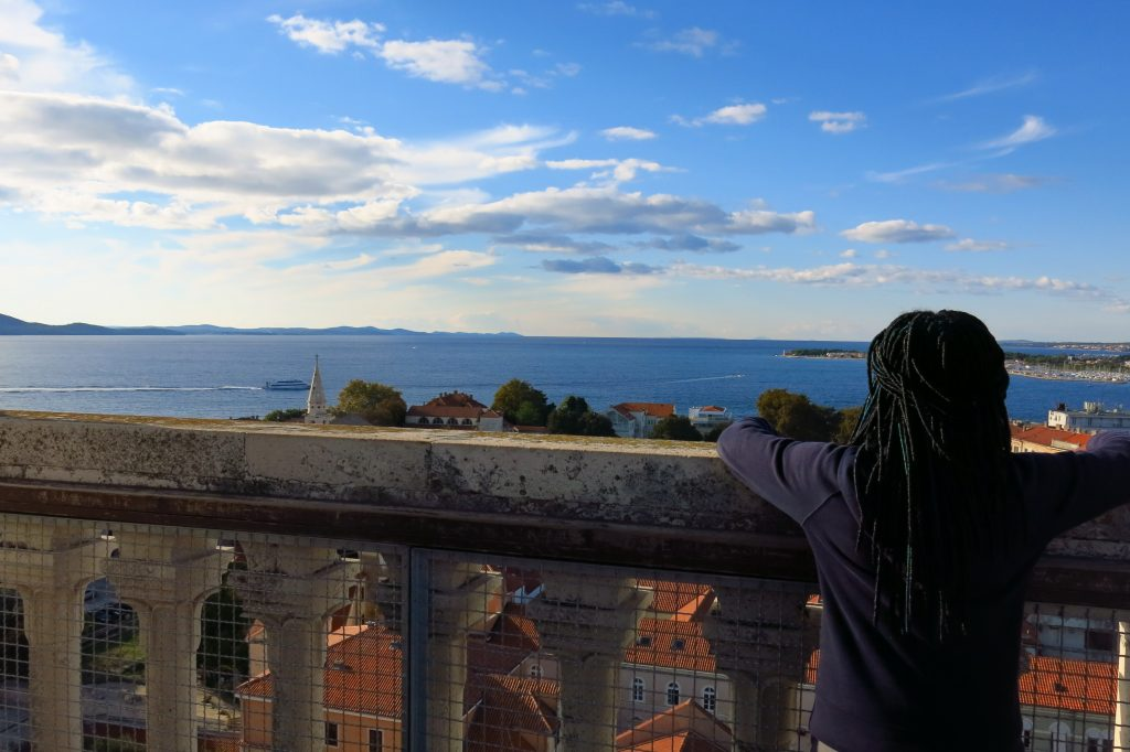 Top of the tower in Zadar, Croatia