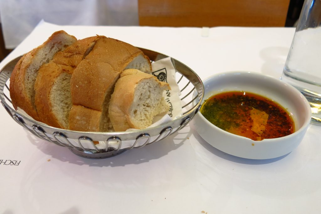 Fresh white bread with the BEST bread dipping oil