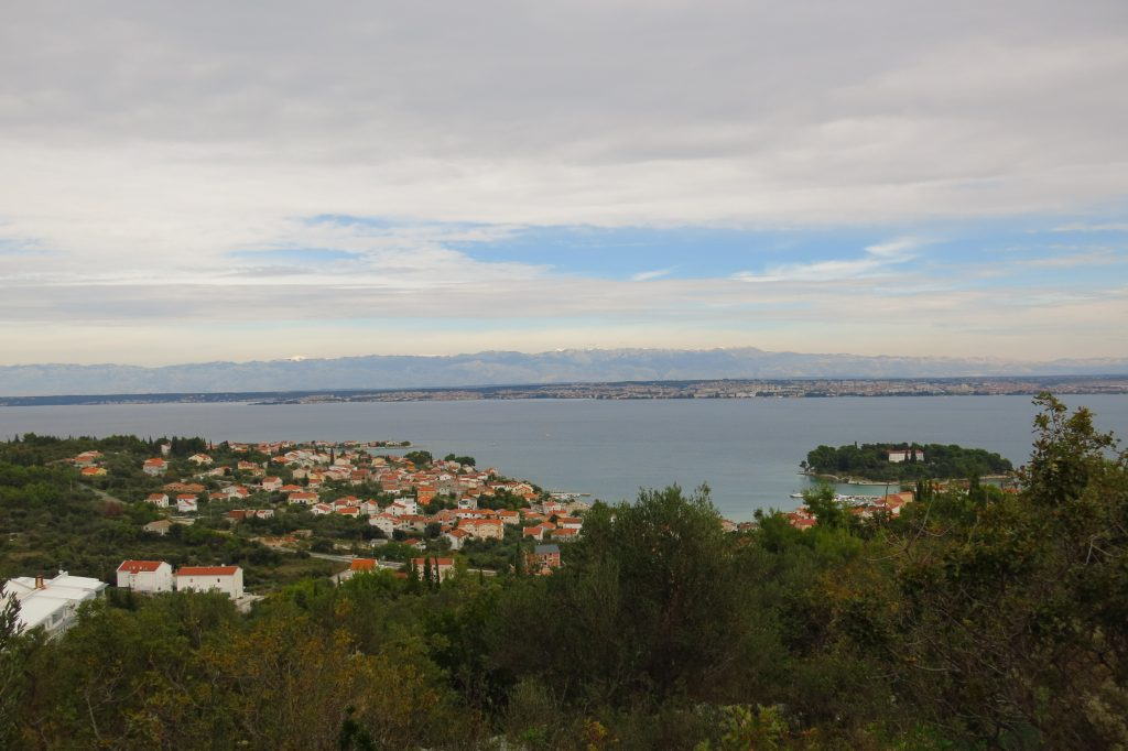 View of Zadar and Ugljan from St Michael's Fortress