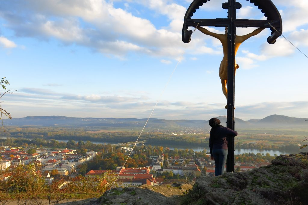 Jesus overlooking Krems an der Donau in Austria