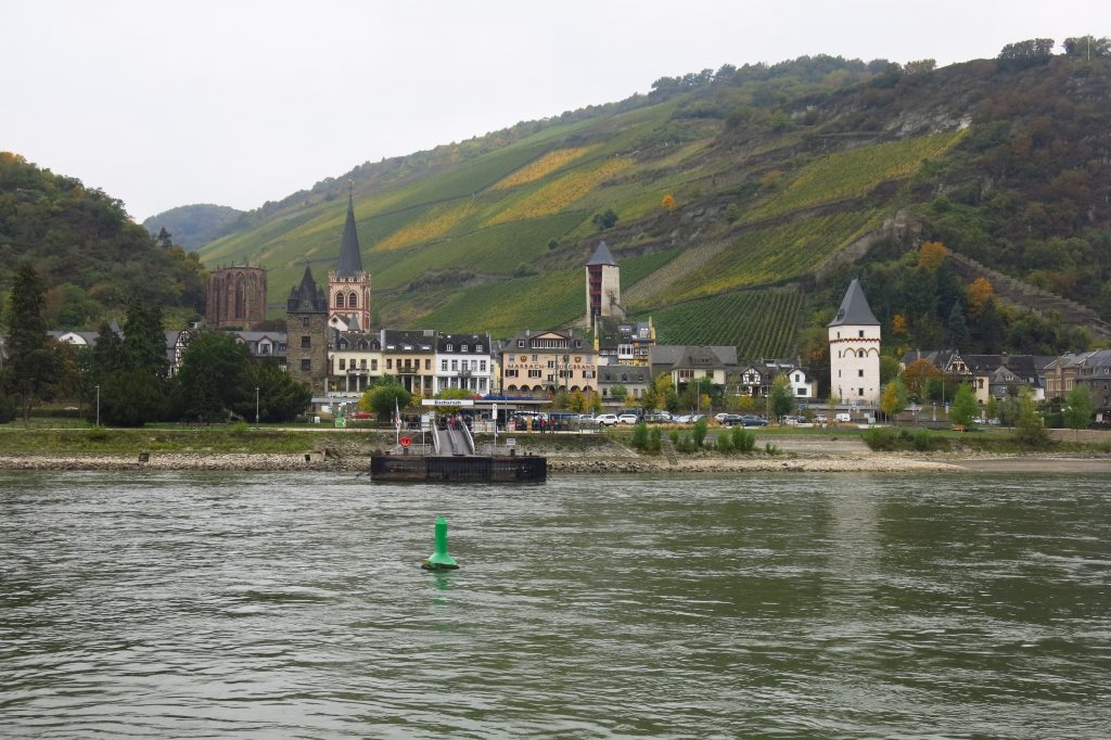 The town of Bacharach along the Rhine River