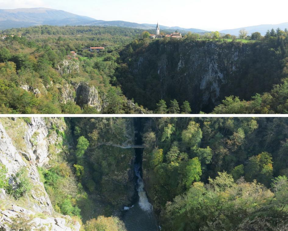 Trail near the Skocjan Caves in Divaca Slovenia
