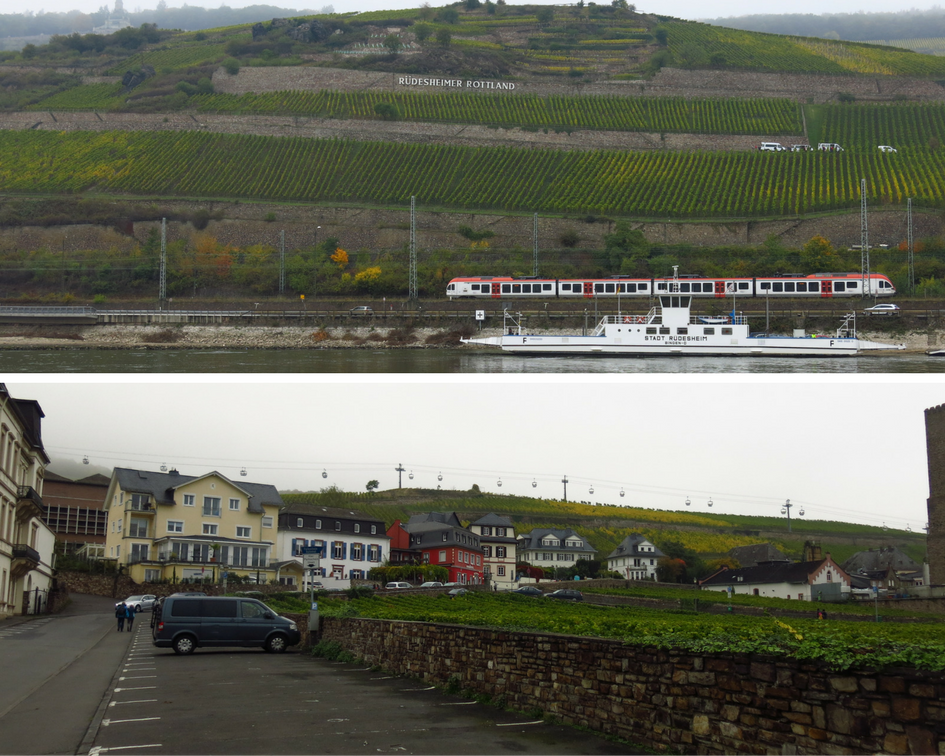Rudesheim along the Rhine River in Germany