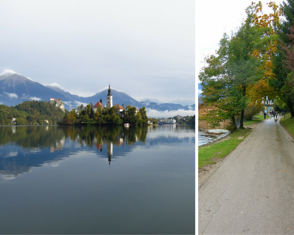 Picturesque Lake bled and trailway