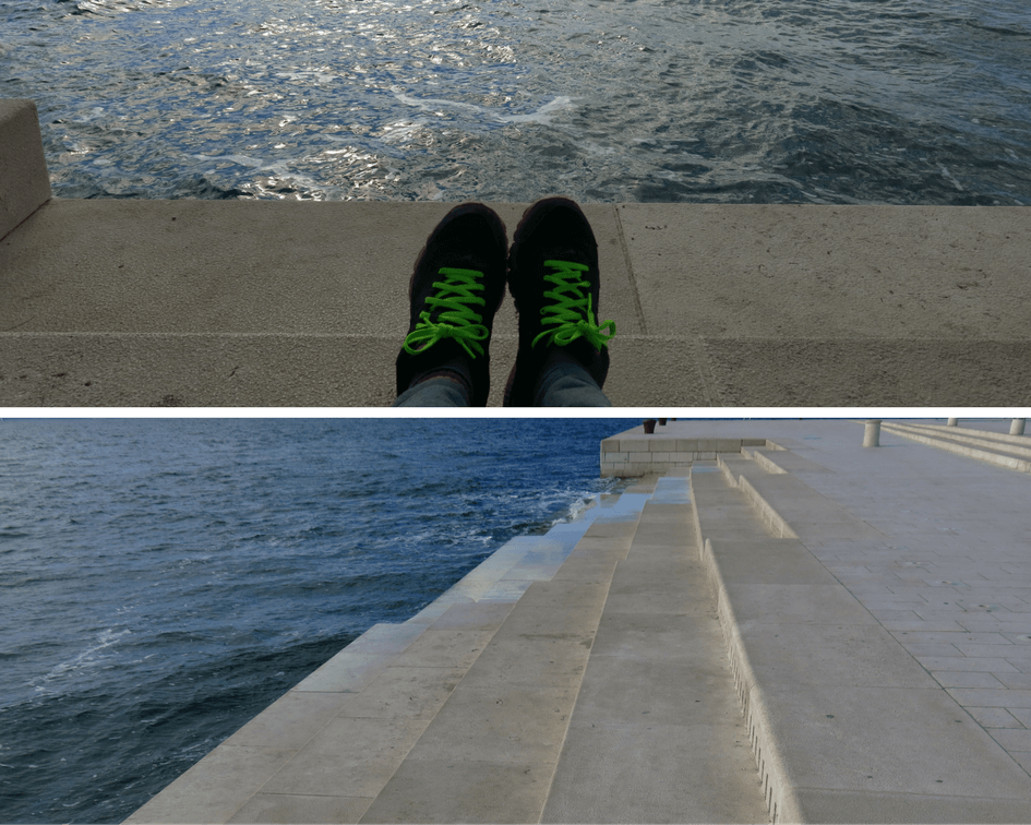 The sea organ in Zadar Croatia
