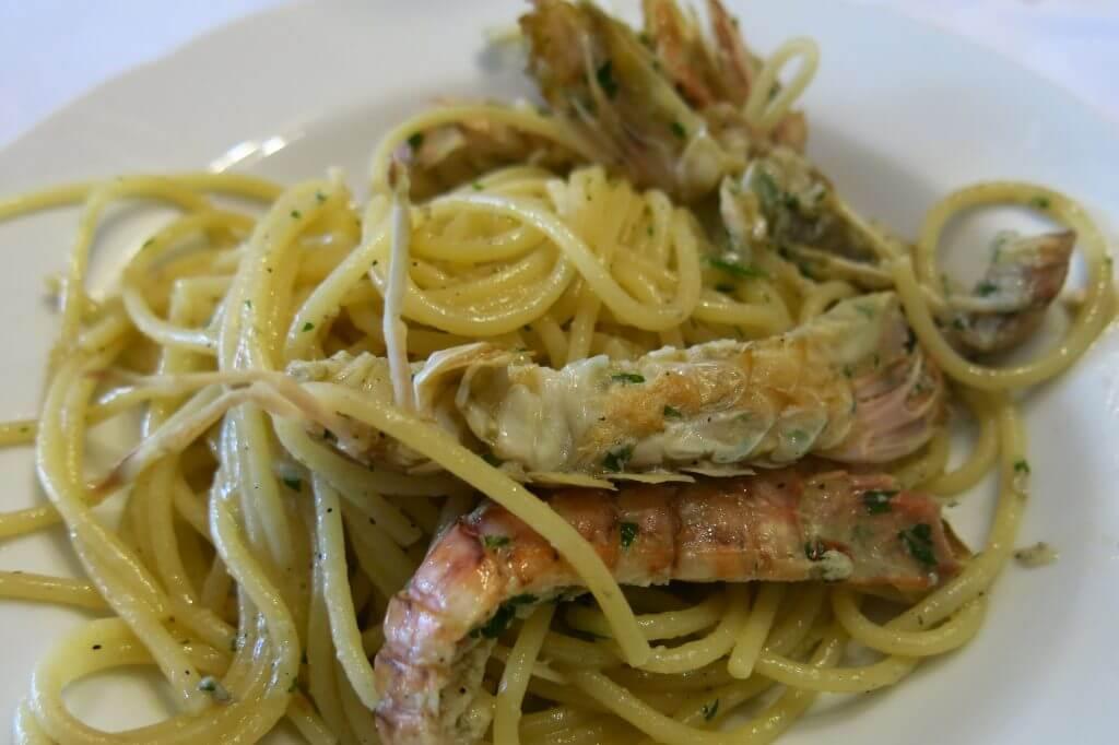 Spaghetti with mantis shrimp (Sapori e Saperi)