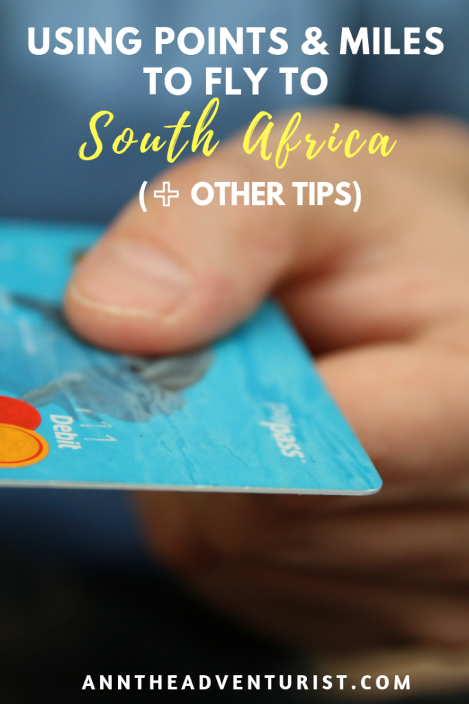 Use Points & Miles to South Africa