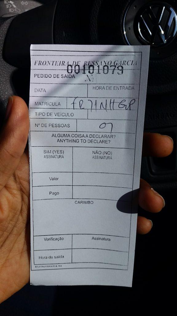 Mozambique Border Gate pass