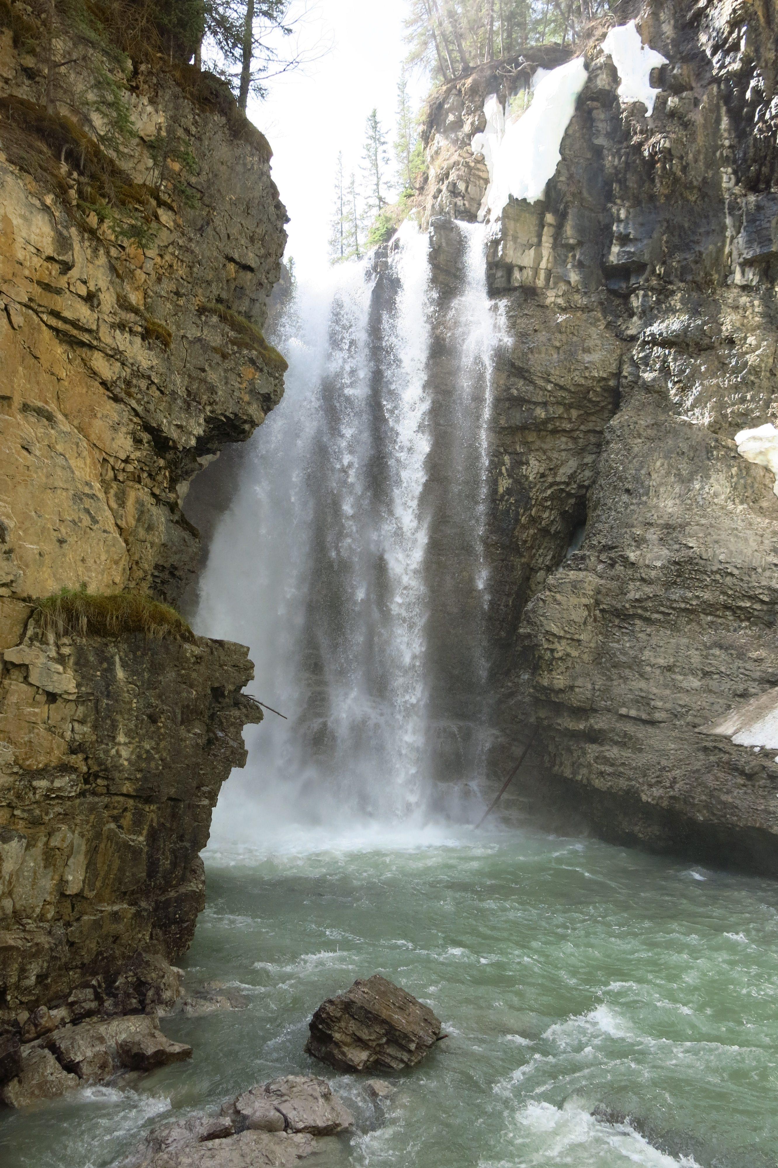 Banff National Park - Upper Falls at Johnston Canyon
