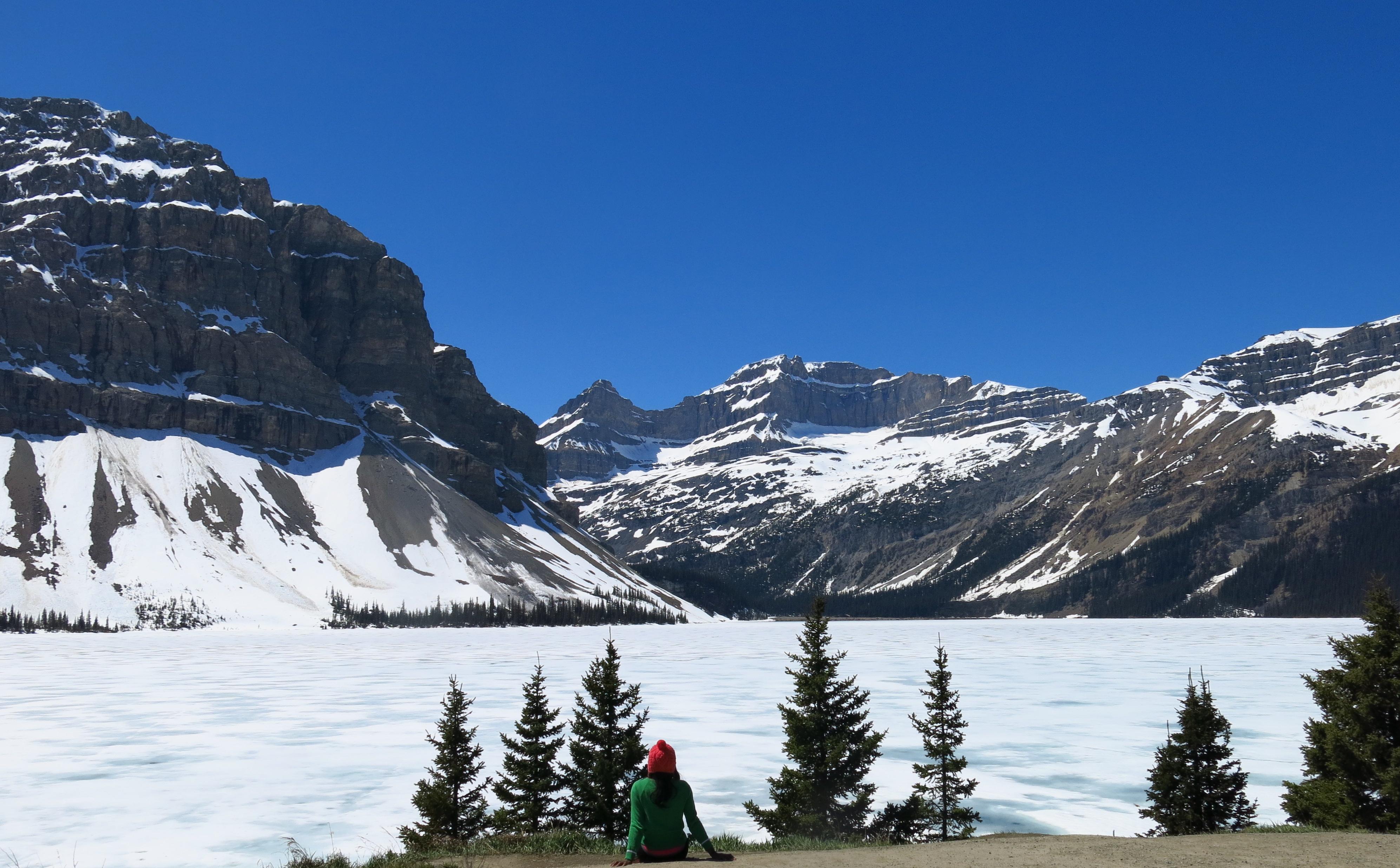 Bow Lake & Crowfoot Glacier at Banff National Park