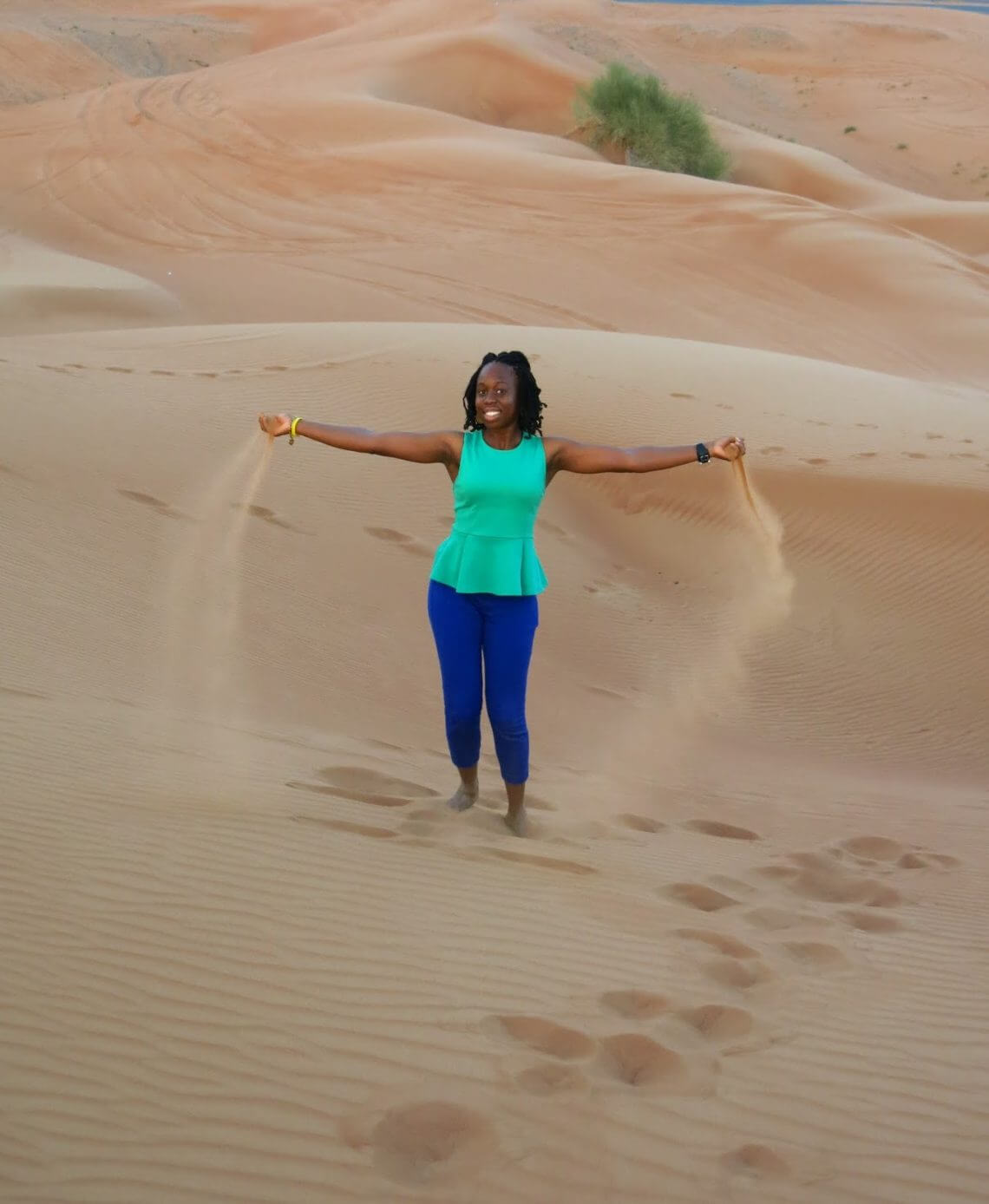 Sand Dunes in Dubai, UAE