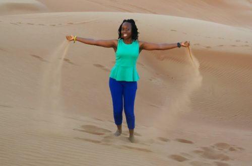 Sand Dunes in Dubai, UAE