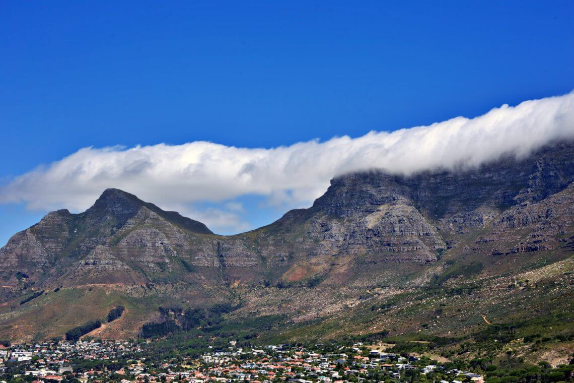 View of Table Mountain from Lion's Head trail
