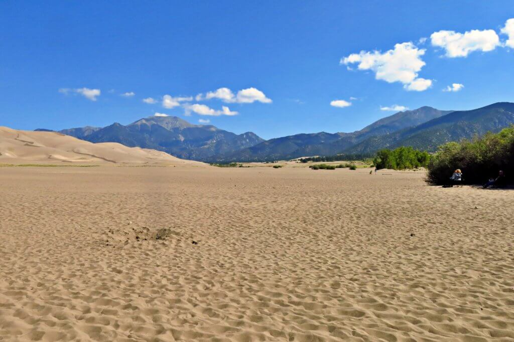 Dried up Medano Creek at Great Sand Dunes National Park