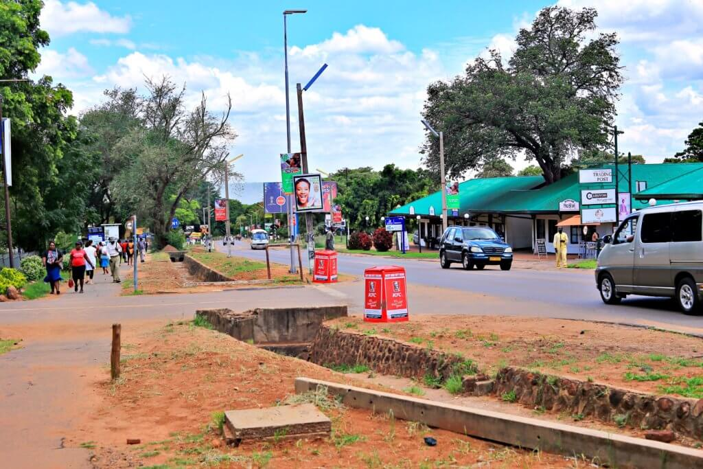 Downtown Victoria Falls, Zimbabwe