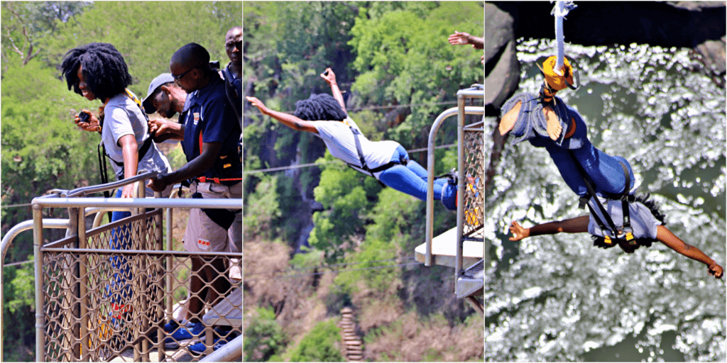 Bungee Jumping on Victoria Falls Bridge (Shearwater)