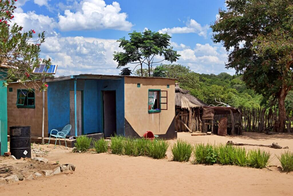 A home in a Zimbabwean Village