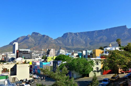 View of Table Mountain from Bo-Kaap