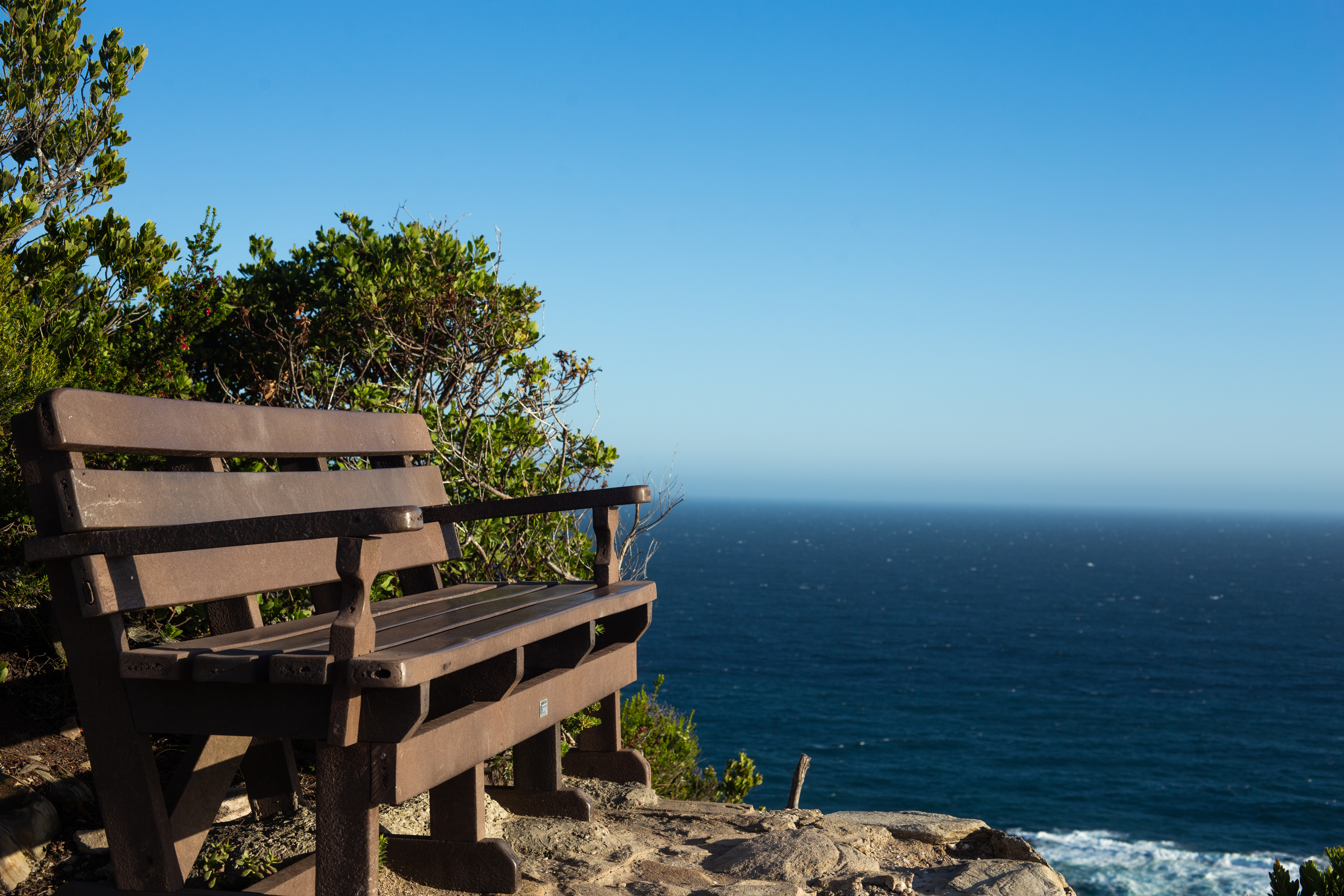Bench along Storms River Mouth Trail