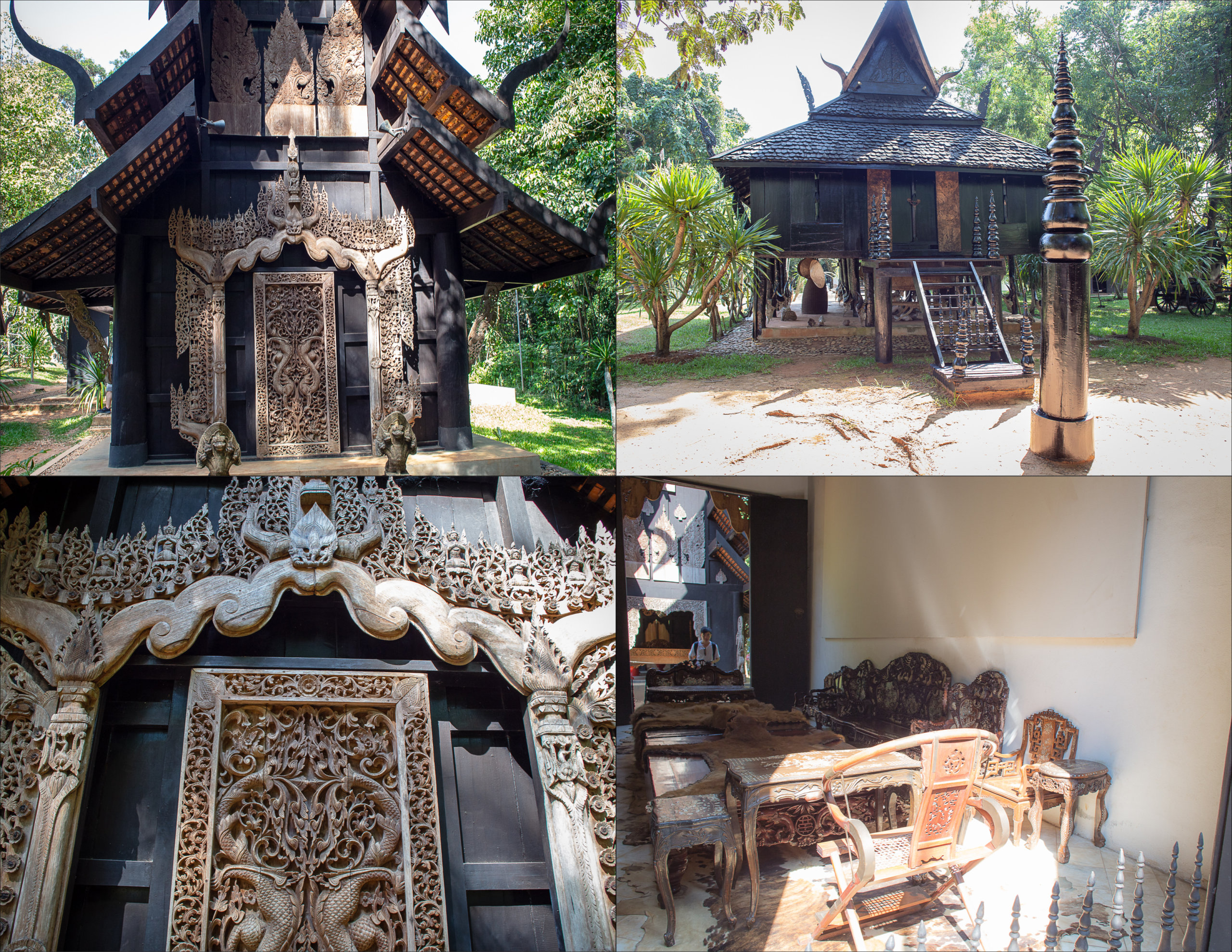 Pearl House & Reclining Buddha Pavilion, Baan dam Museum