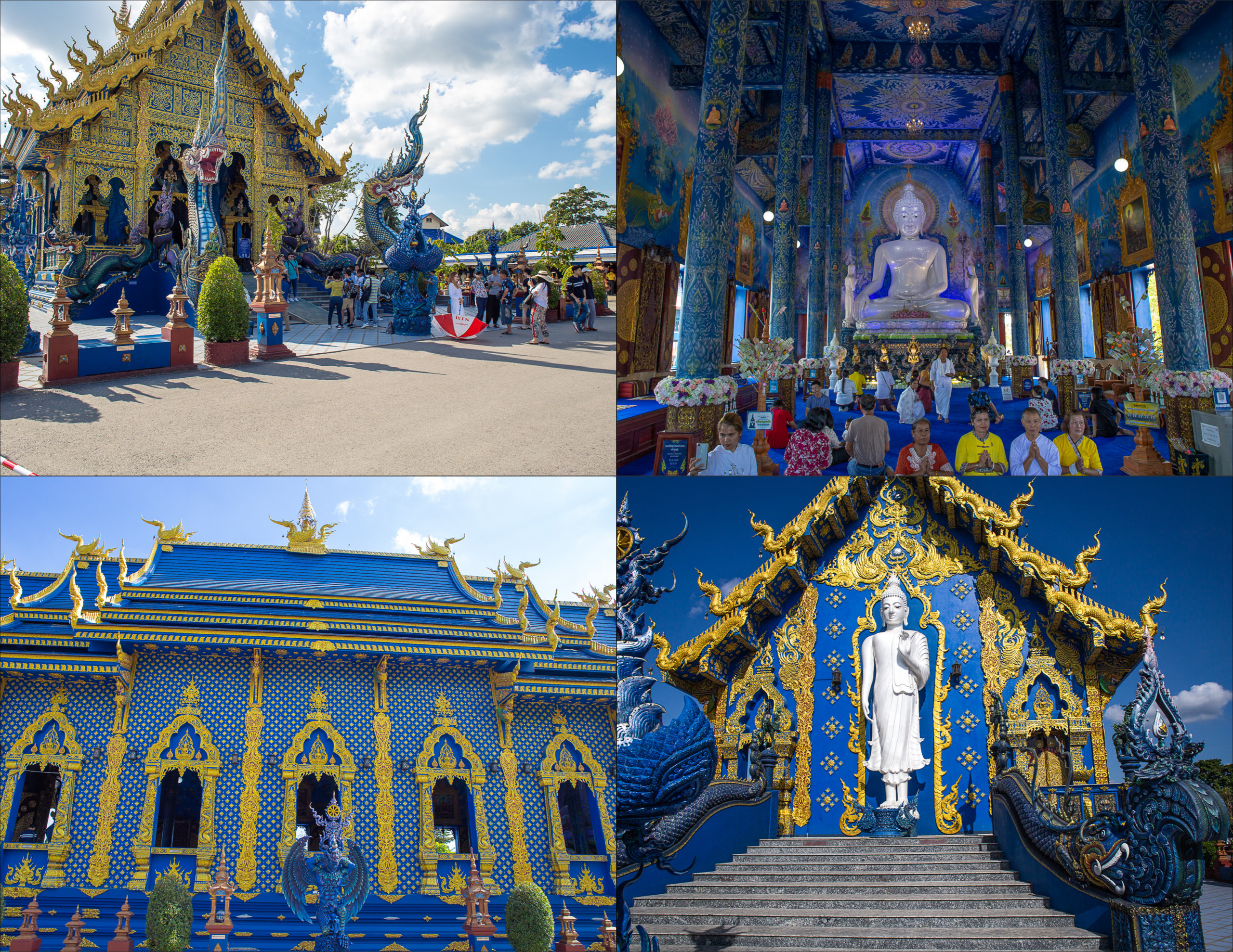 Views of Wat Rong Suea Ten, Chiang Rai