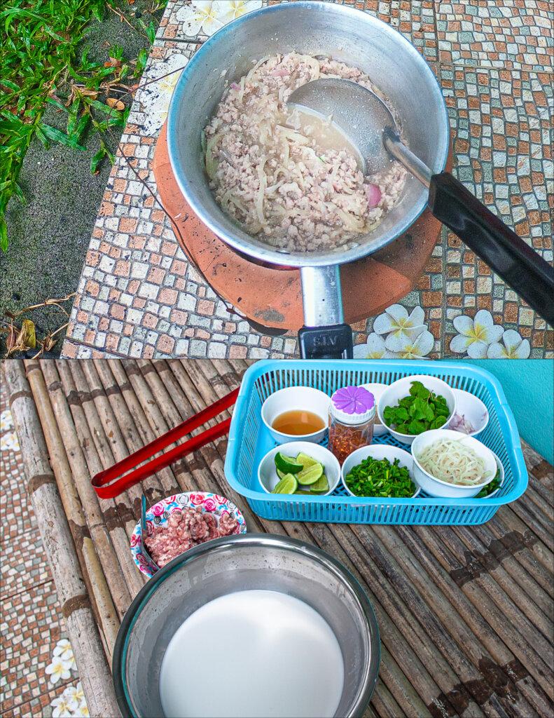 Cooking Larb Gai